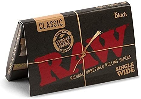 Classic Black Single Wide Papers Accessories Rolling Paper